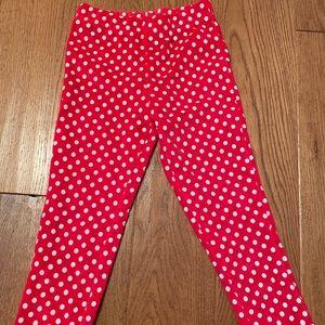 Disney toddler girl Minnie Mouse polka dot pants